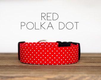 Red Polka Dot Dog Collar