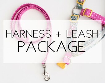 Harness + Leash Package -please note the pattern(s) of your choice at checkout