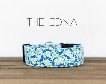 "Multicolor Modern Spring Floral Dog Collar ""The Edna"""