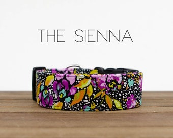 """Colorful Stylish Floral Dog Collar """"The Sienna"""""""