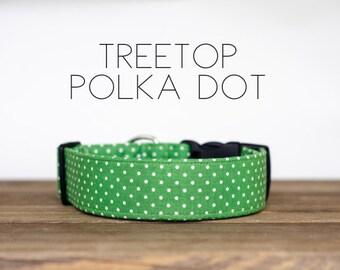 Treetop Polka Dot Dog Collar