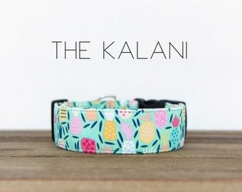 """Multicolor Whimsical Pineapple Dog Collar """"The Kalani"""""""