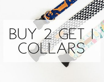 Buy 2, Get 1 Free Dog Collars Special