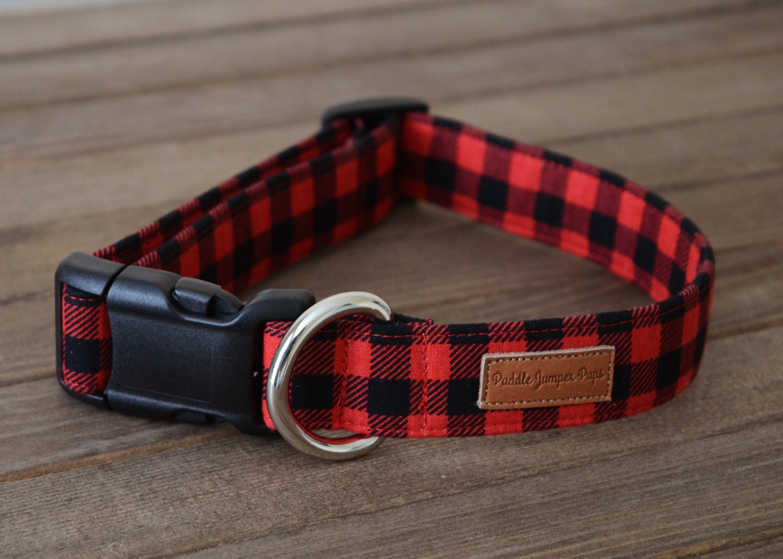 plaid dog collars