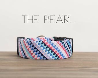 "Colorful Modern Geometric Dog Collar ""The Pearl"""