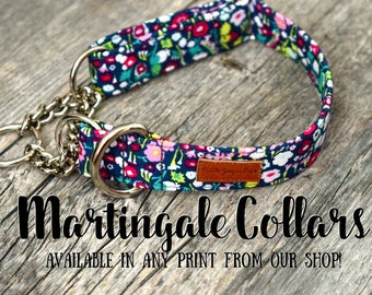 Martingale Collars - available in any pattern from our shop!