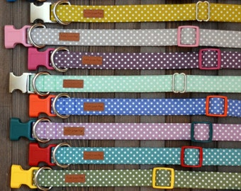 Fall Polka Dots Dog Collar
