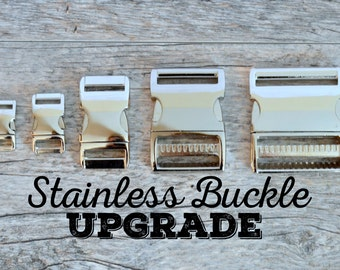 Stainless Dog Collar Buckle Upgrade