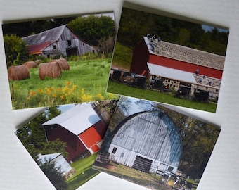Photo greeting cards etsy photo greeting cards barns note cards stationery wisconsin barns premium quality set of 4 with envelopes m4hsunfo