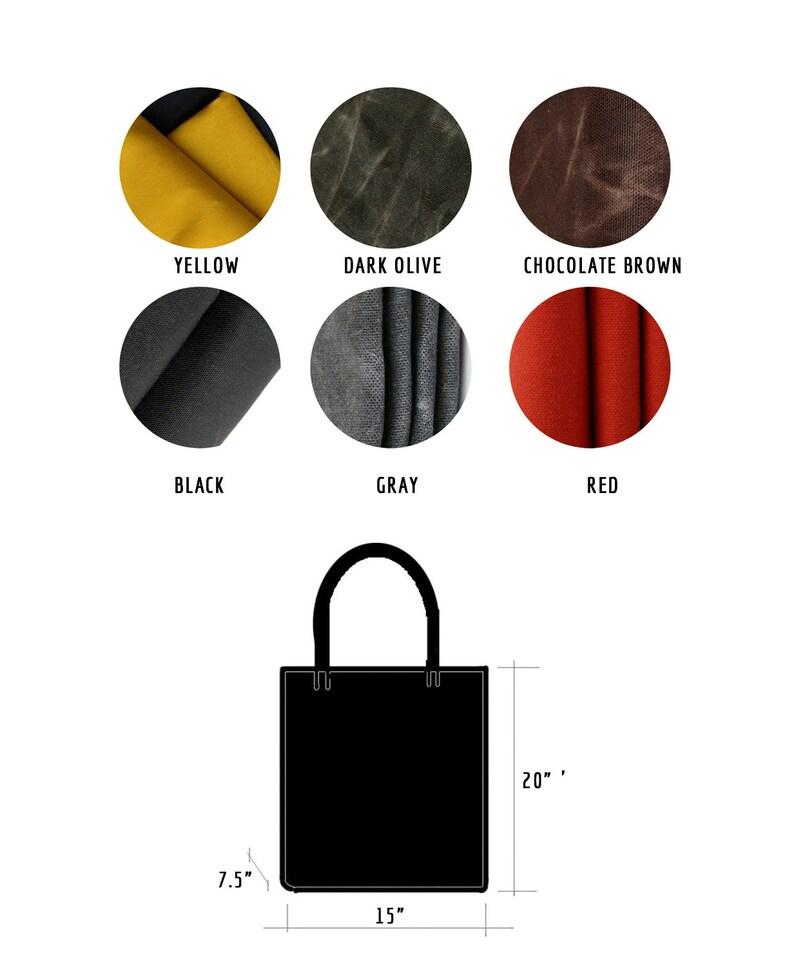 Rannka Unisex Oversize Waxed Canvas Tote \u2013 Selection of colors