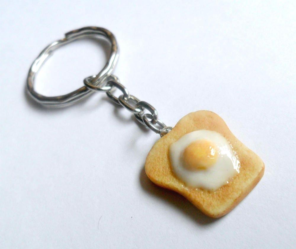 Enameled Egg on Toast Charm