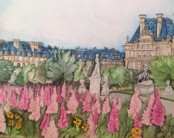 Paris Versailles Original Watercolor