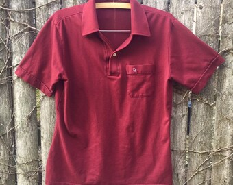 55ff708e2 Christian Dior Polo Mens Medium Vintage 80s Dior Maroon Short Sleeve Polo  Shirt Vintage Designer Shirt