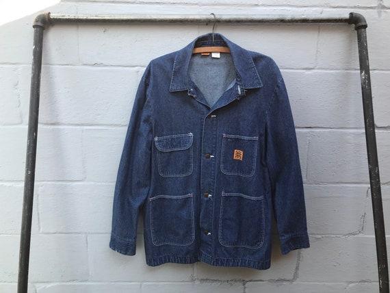 Vintage Wrangler Big Ben Denim Chore Coat Men's Si