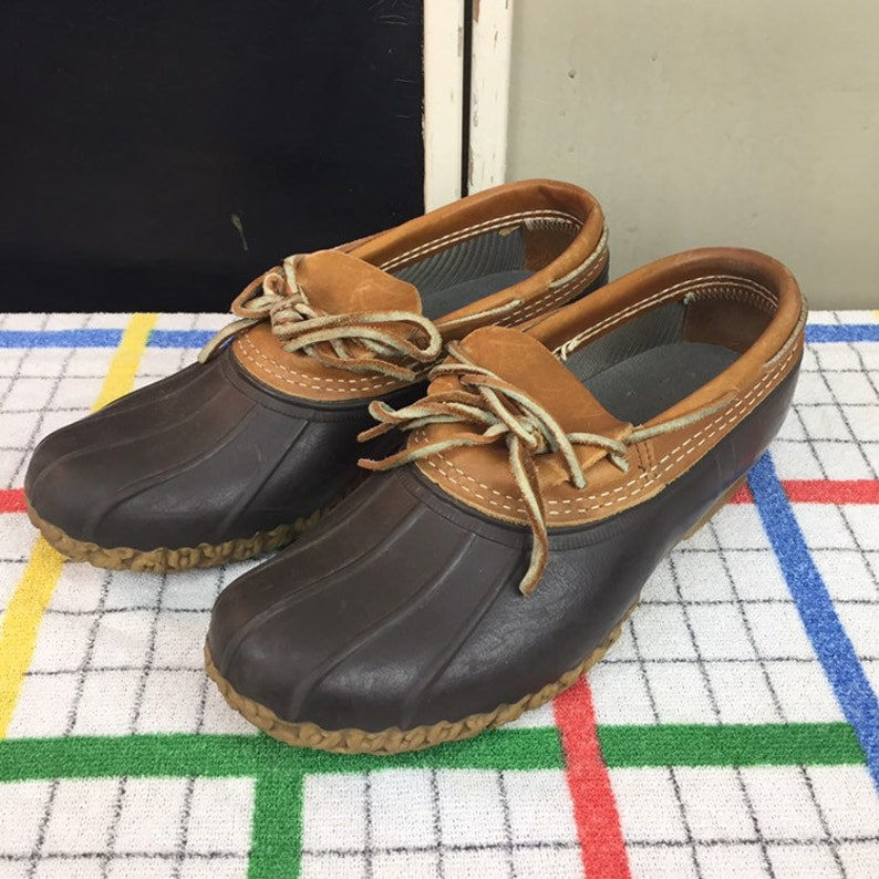 1d27e53abb8 LL Bean Boots / Mens Size 8 / Vintage L.L. Bean / Low Bean Boots / Vintage  Waterproof Boots