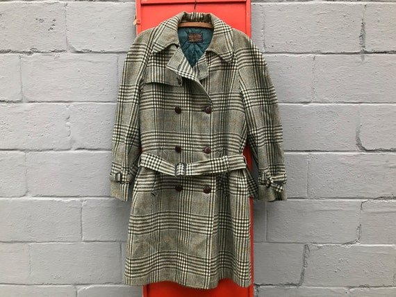 Vintage Pendleton Coat Plaid Wool Checkered Overco