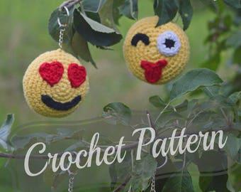Emoji Amigurumi: 12 Patterns to crochet emojis - Sueños Blanditos | 270x340