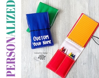 PERSONALIZED Tiny Artist Kit, Easter Basket Toy, Girls Drawing Set, Easter Gift for Kids, Toddler Crayon Roll, Kids Art Gift Set