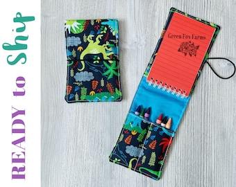Tiny Artist Kit, Dinosaur Lovers Gift, Boys Crayon Holder, Toddler Easter Gift, Boys Birthday Gift, Girls Drawing Set