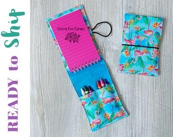 Girls Coloring Kit, Flamingo Crayon Roll, Toddler Art Set, Tiny Artist Set, Kids Drawing Kit