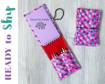Tiny Artist Kit, Mermaid Lover Gift, Girls Art Activities, Easter Gift Ideas, Toddler Crayon Roll, Kids Craft Kit