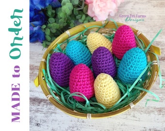 Easter egg Rattles, Easter Basket Gift Ideas, Crochet Easter Egg, Crochet Baby Rattle, Knit Egg Rattles, Toddler Easter Toy