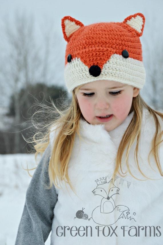 a70cae64767 Fox Hat Adult Fox Hat Kids Animal Hat Crochet Fox Hat