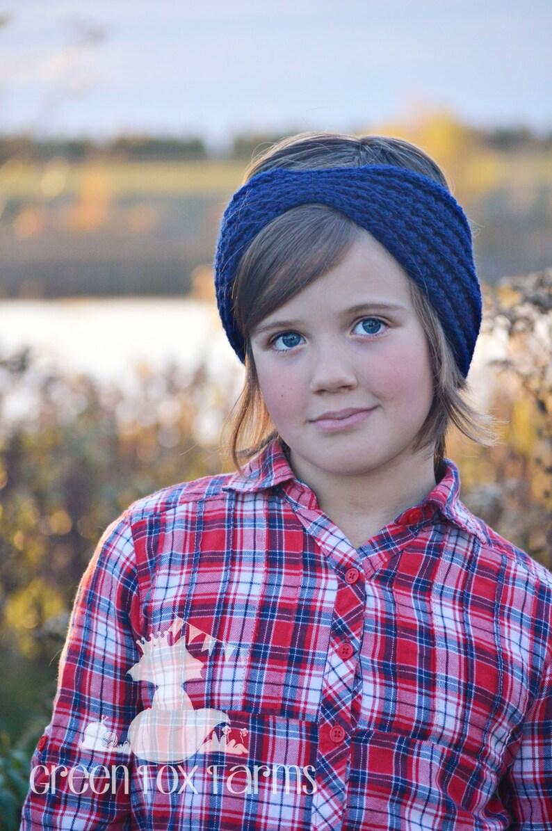 934ca161b67f Crochet Ear Warmer Ribbed Winter Headband Crochet Headband