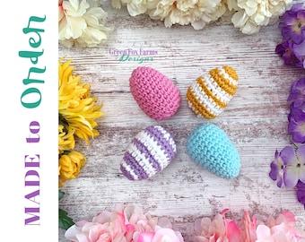 Easter Eggs Rattles, Egg Rattles Knit, Baby Easter Gift, Crochet Eggs, New Baby Gift, Easter Egg, Easter Gifts Toddler, Easter Toy Baby