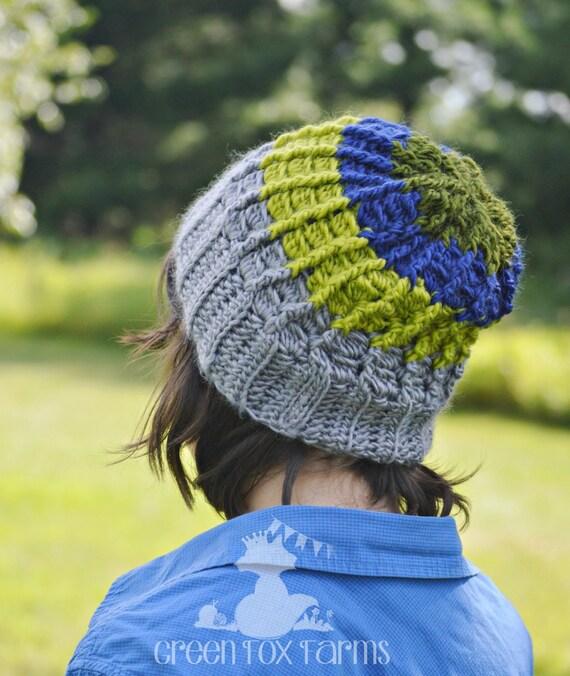 Jungen Mütze häkeln Schlapphut jungen gestreifte Mütze | Etsy