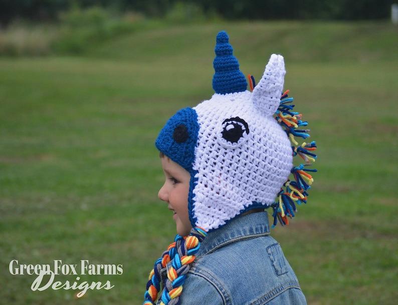 Crochet Unicorn Hat Knit Unicorn Hat Unicorn HatAnimal Hat  1cd71fdd87e