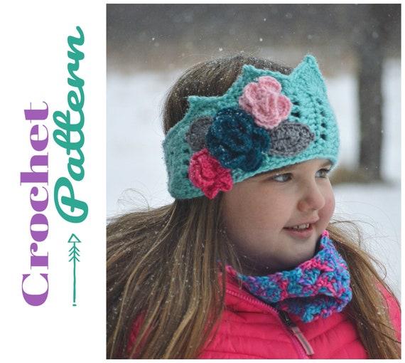 4ecd634f59c Crochet Pattern Crown Ear Warmer Crochet Headband Winter