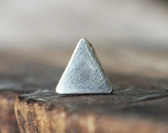 Silver Triangle Stud Earring   Cartilage Earring   Cartilage Stud   Tragus Jewelry   Helix Piercing   Conch Earring   Tragus Earring