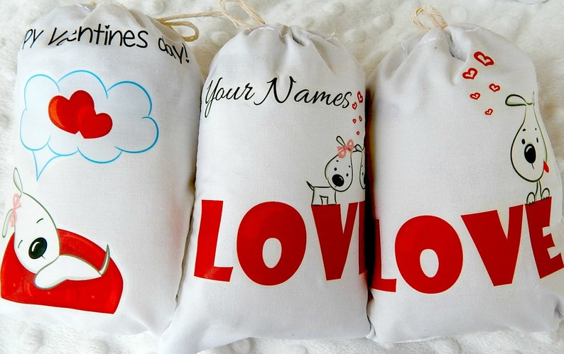 Wedding Favor Bags Loving Pup/'s Bridal shower great for Candy bag or gifts can be Personalized  5 X 7 or  6 X 8  Set of 6 bags per order