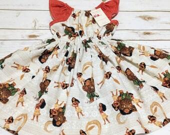 Moana and Maui Character Dress