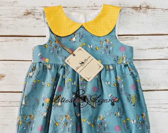 Featured listing image: Peter Rabbit Bubble Romper Play suit With Peter Pan Collar