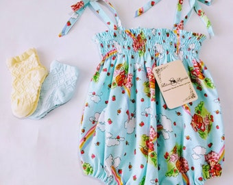 Strawberry Shortcake Rainbows, Shoulder Tie Romper