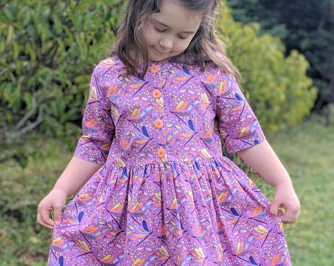 Girls Dragonfly Dress 12m-8