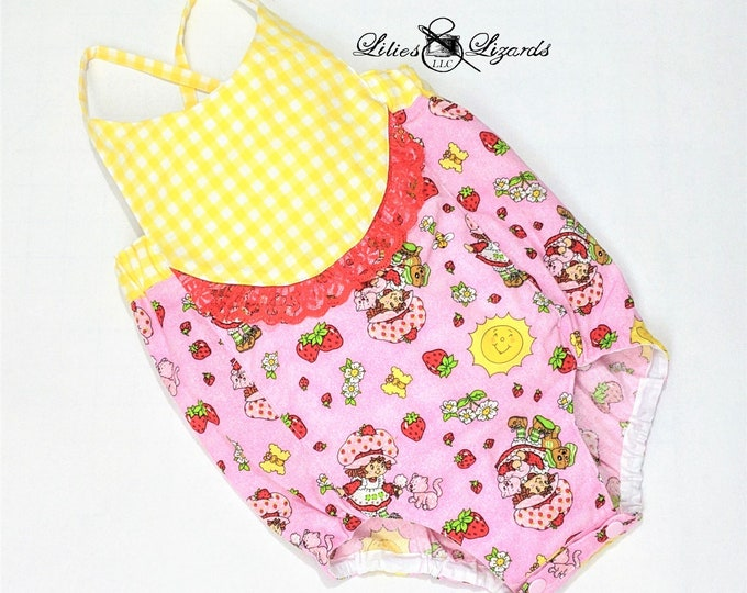 Strawberry Shortcake Romper, Baby Girl Size NB-24m