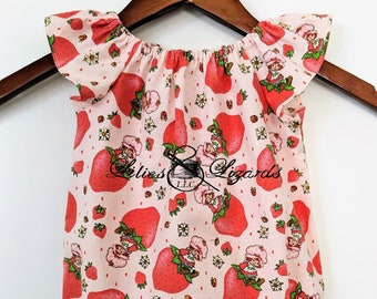 Strawberry Shortcake Romper, Baby Girl Size NB-2T