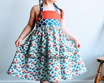 Girls Patriotic Halter Dress