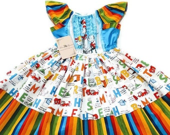 Size 6 OOAK Seuss Dress