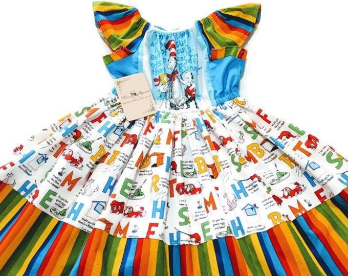 Size 6 OOAK Seuss Dress