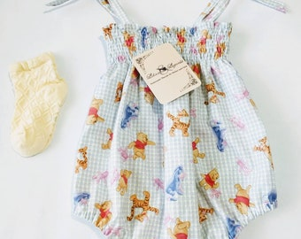 Gingham Winnie the Pooh and Friends Romper