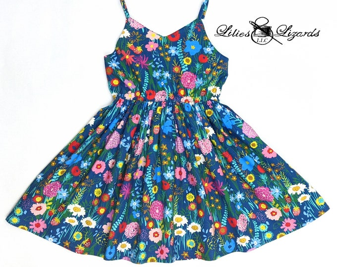Girls Wildflowers Summer Dress, Size 2-12