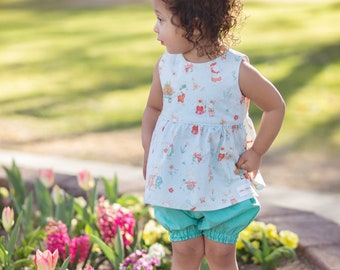 Spring Bunny Top and Bloomer Set