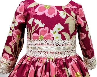 Size 3 Ready to Ship Girls Floral Dress