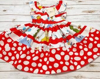 Seuss Characters Flutter Sleeve Dress