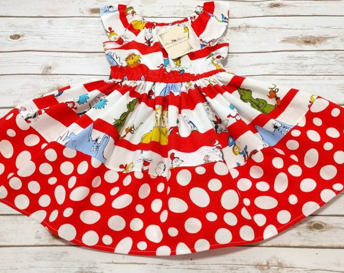 Seuss Characters Flutter Sleeve Dress