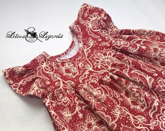 Girls Red Dress, Size 12m-8